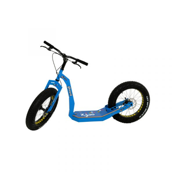 GreenBoard adult kick scooter blue with fat wheels