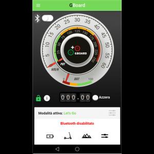 App Gboard per spinta assistita/App für Elektro-Roller